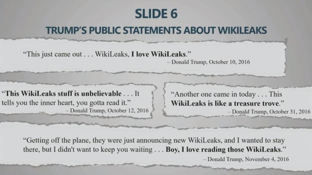 Trump on Wikileaks